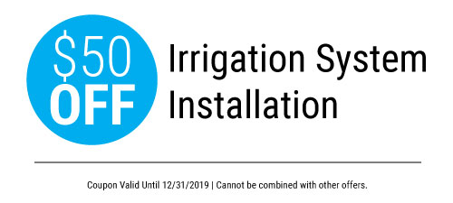 $50 Irrigation System Installation = Call Plumbimg Solutions today to schedule your irrigation installation.