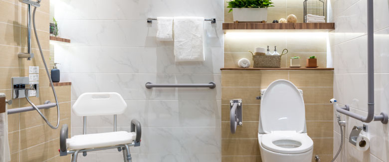 Age in place with the help of Plumbing Solutions! Call today to have your bathroom updated to meet ADA requirements!