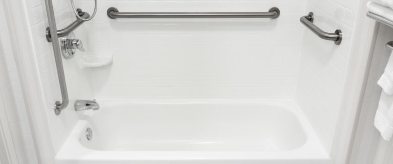 Get an ADA certified bathtub installed in your home! Call Plumbing Solutions today!